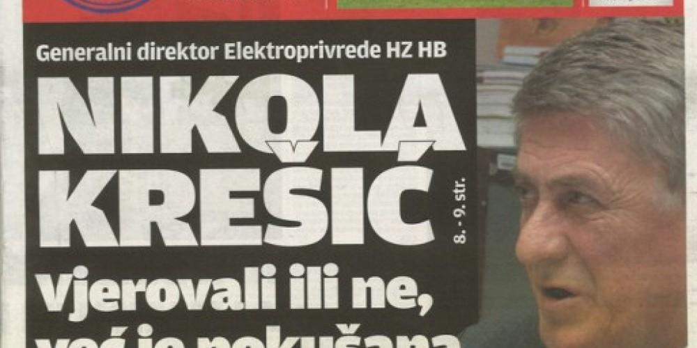 Nikola Krešić: Već je pokušana moja likvidacija