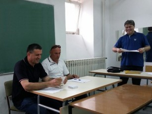 Predsjednik Marijo Marušić Tajco, Jozo Šušak i Goran Kraljević